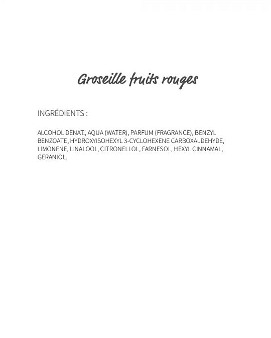 Groseille Fruits rouges (721) - eau de parfum 30ml