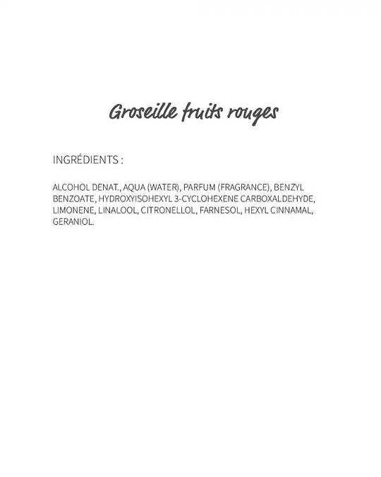 Groseille Fruits rouges (721) - eau de parfum 30ml