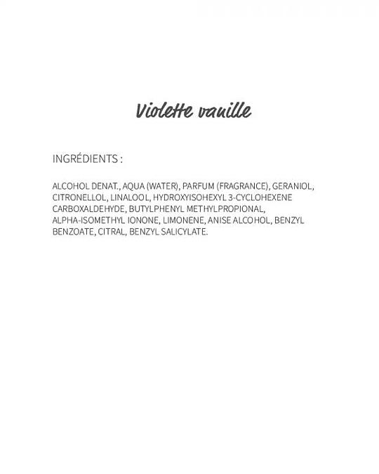 Violette Vanille (212) - eau de parfum roll-on 10ml