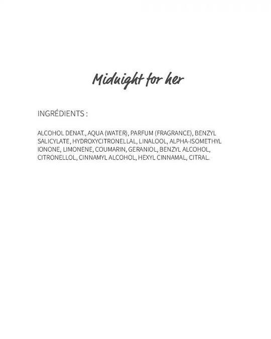 Midnight for her (114) - eau de parfum 30ml