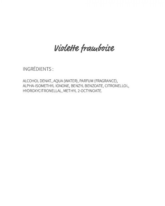 Violette Framboise (295) - eau de parfum 30ml