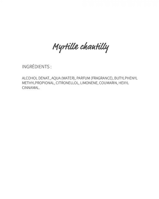 Myrtille Chantilly (253) - eau de parfum 30ml