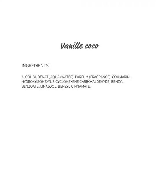 Vanille Coco (100) - eau de parfum 30ml