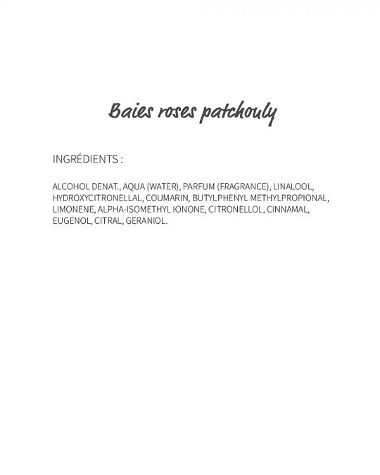 Baies Roses Patchouly (62) - eau de parfum 30ml