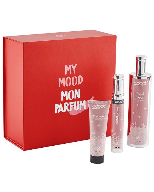 Caja eau de parfum 100ml + 30ml + crema de manos