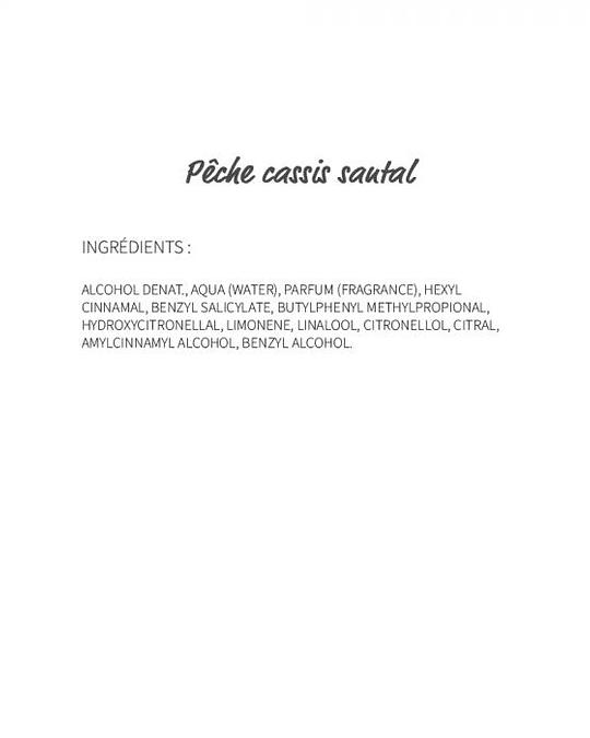 Pêche Cassis Santal (84) - eau de parfum 30ml