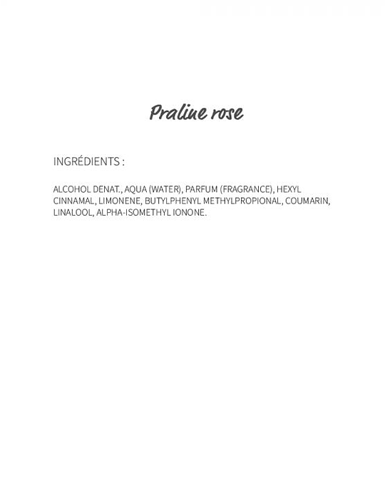 Praline rose (89) - eau de parfum 30ml