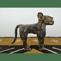 Leopardo de Benin de Bronze