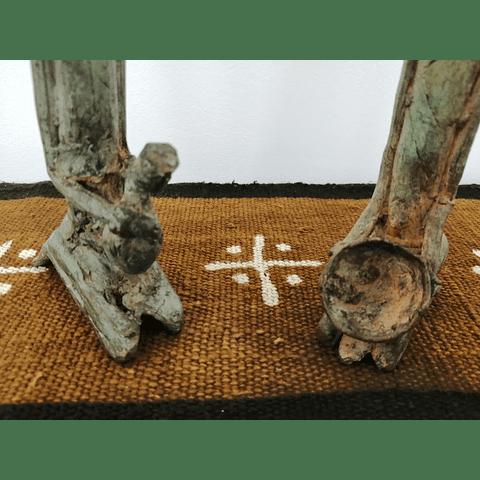 Casal Dogon de Bronze