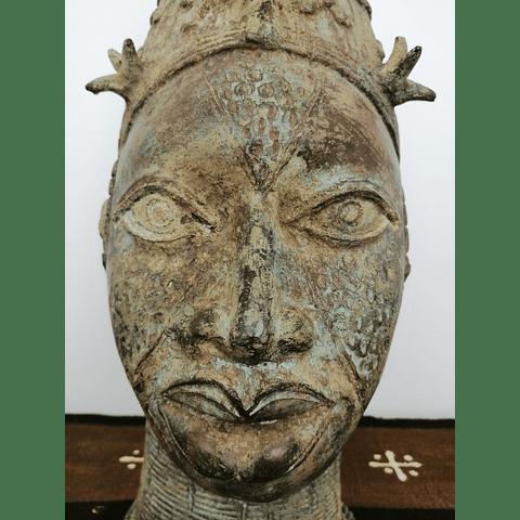 SOLD - Ife Bronze Queen's Head