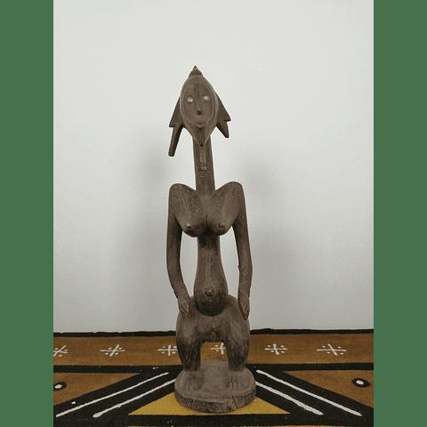 Escultura Ondulada de Bamana ou Bambara