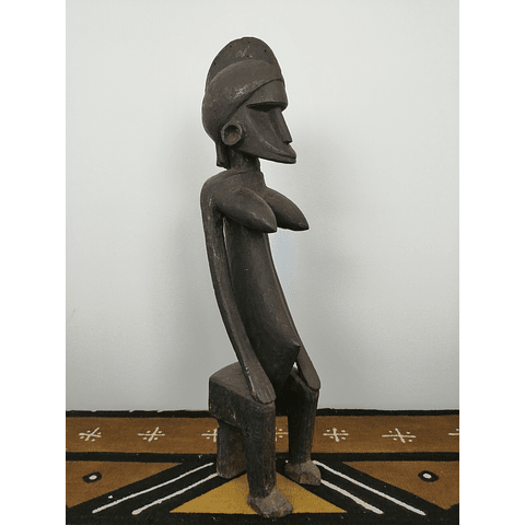 Seated Bamana Female Statue