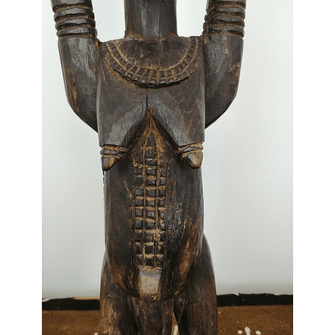 Male Nommo Statue with Raised Hands