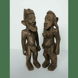 Nommo Dogon Couple Statue