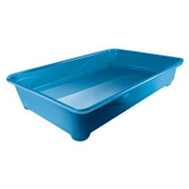 Bañera Gato Pop - Azul   Largo 42cm x Alto 8cm x  Ancho 28cm
