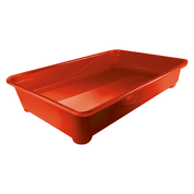 Bañera Gato Pop - Rojo Largo 42cm x Alto 8cm x  Ancho 28cm