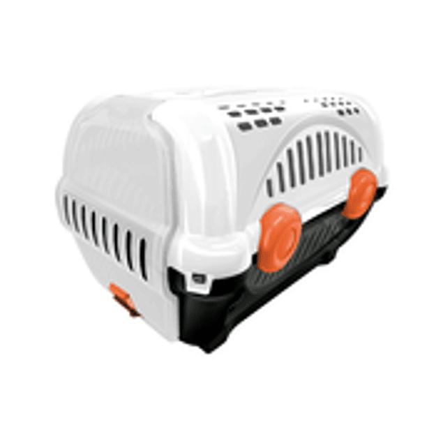 Caja de Transporte Lujo N1 - Blanca con Naranja