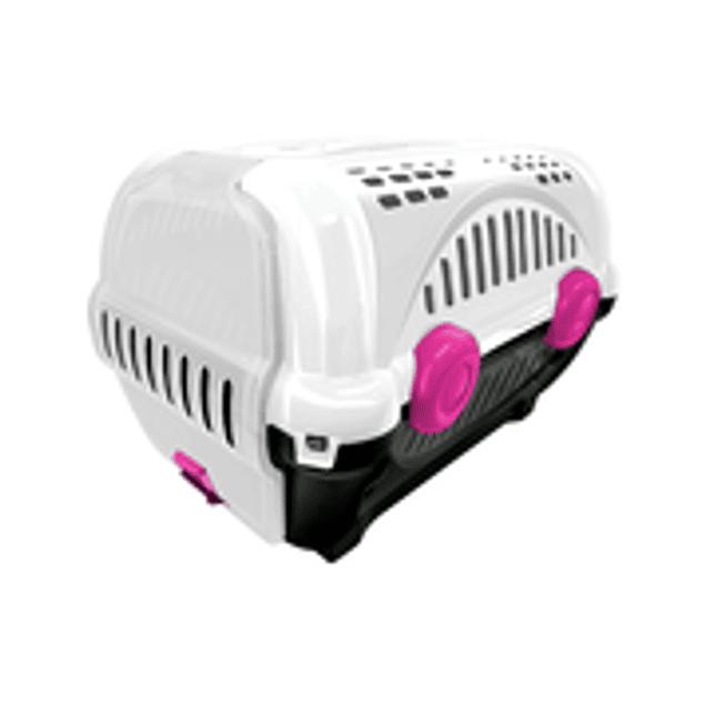 Caja de Transporte Lujo N1 - Blanca con Rosa