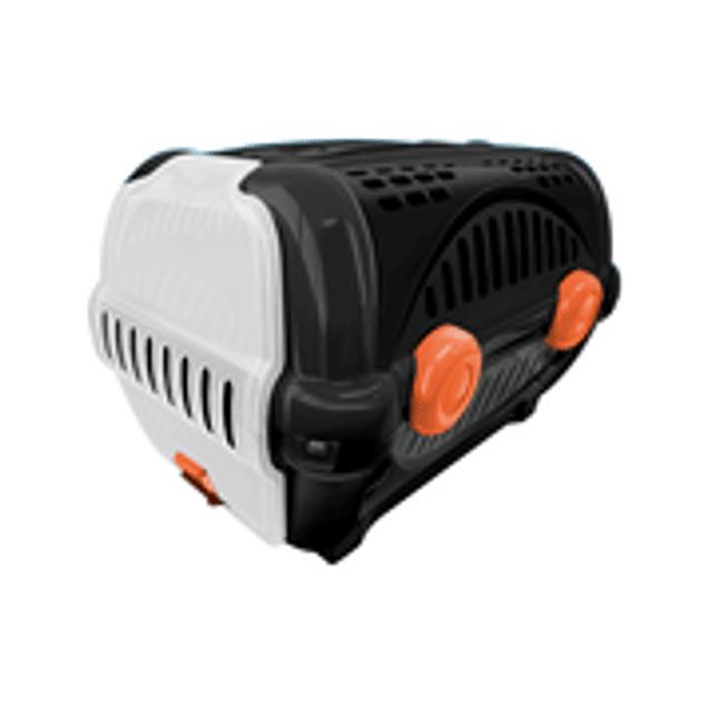 Caja de Transporte Lujo N2 - Negro con Naranjo