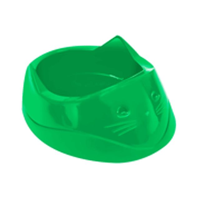Comedero Plast. Cara de Gato