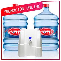 Promoción Pack Hogar Soporte Natural + 2 botellones Ahora $14.900 antes $18.900