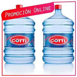 Promoción Pack Recarga 2 Botellones Retornables Ahora $6.390 Antes $7.380