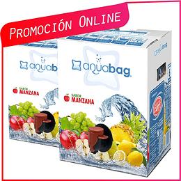 Promoción Pack 2 Aguas Saborizadas 10 litros  Ahora $8.490 Antes $10.000