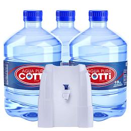 Pack Dispensador Natural + 3 botellones desechables 10 lts