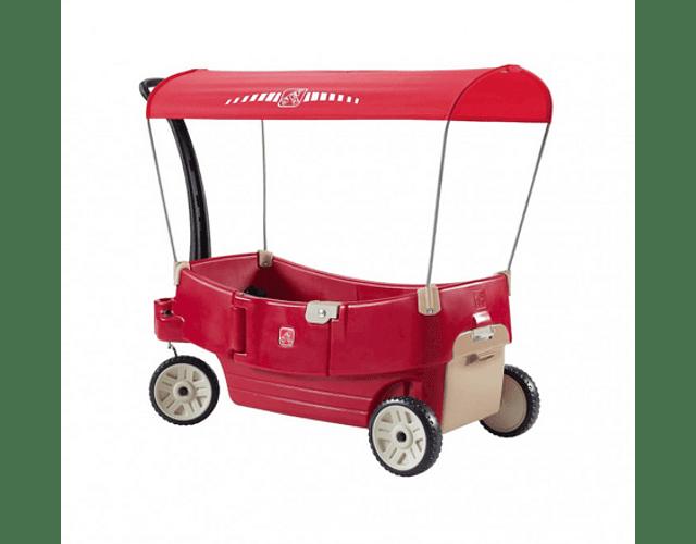 Carro de arrastre techado