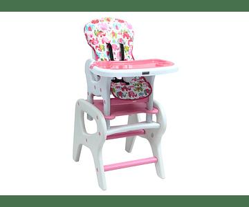 Silla de comer alta rosa bebesit 1032