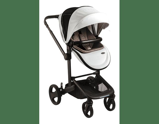 Coche travel system premium Quad 8020 bebesit blanco