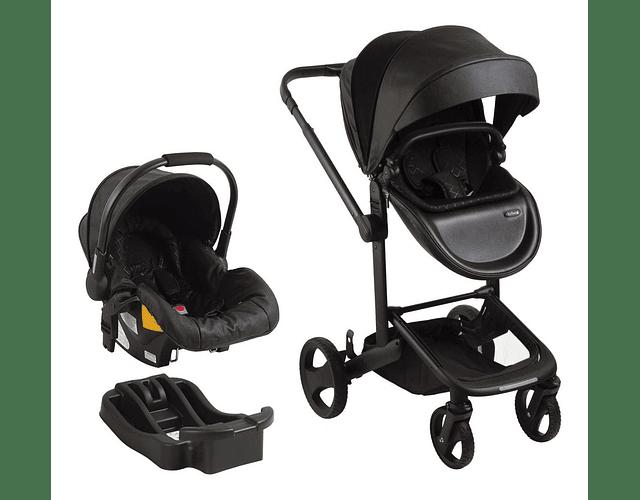 Coche travel system premium Quad 8020 bebesit negro