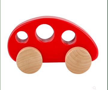 Auto Rojo de Madera Hape