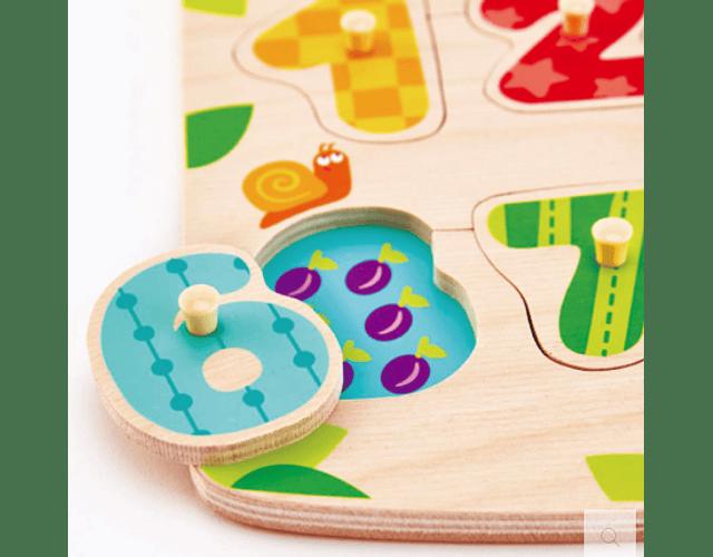 Puzzle de Números con Pinzas