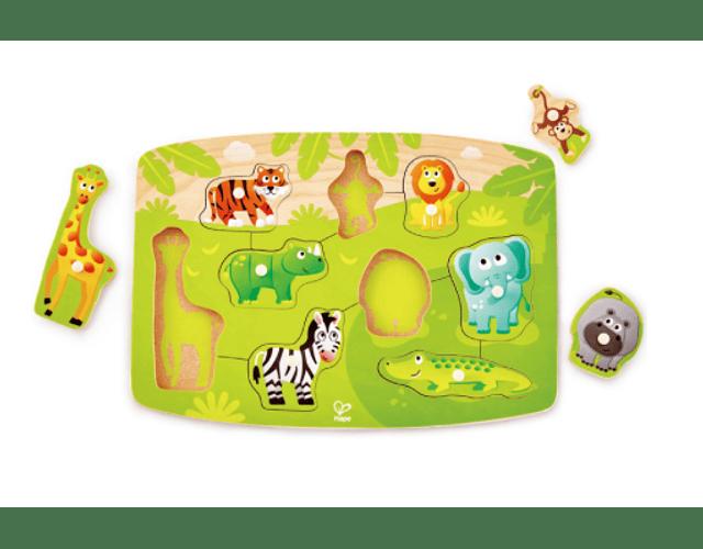 Puzzle de la jungla con pinzas