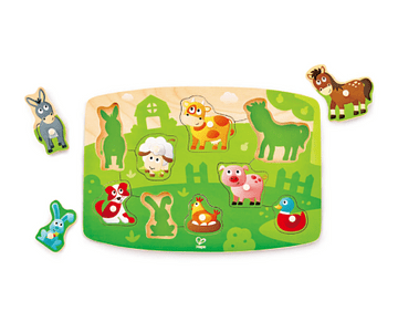 Puzzle de la granja con pinzas