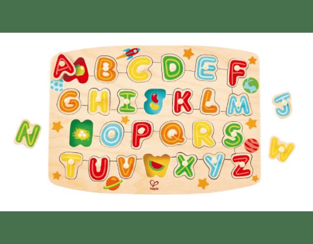 Puzzle del alfabeto con pinza