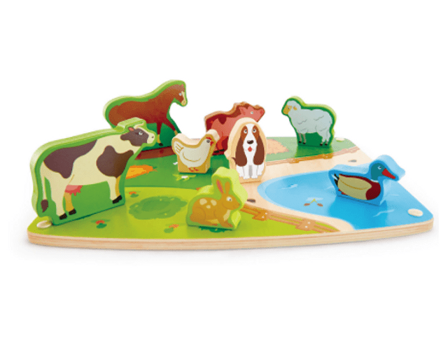 Puzzle y juego de animales de granja