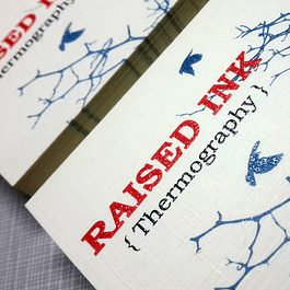 Raised Ink Business Cards