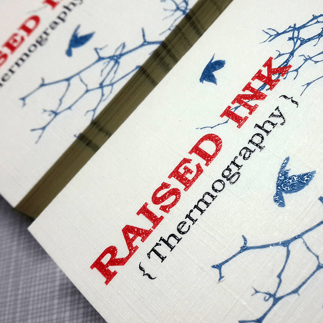 Raised ink business cards reheart