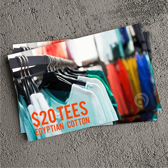 16pt Velvet Soft Touch Postcards