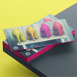 32pt Colored Edge Business Cards (Uncoated)