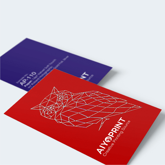 16pt Velvet Soft Touch Business Cards w/ Raised Foil