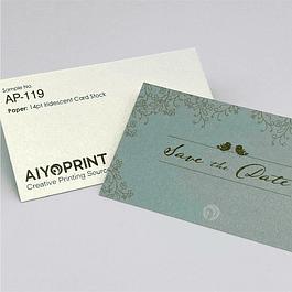 14pt Iridescent Business Cards