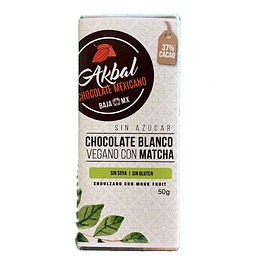 Chocolate blanco vegano con matcha y monk fruit
