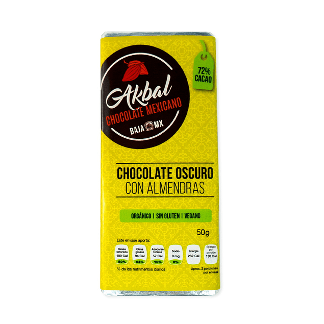 72% chocolate with almonds