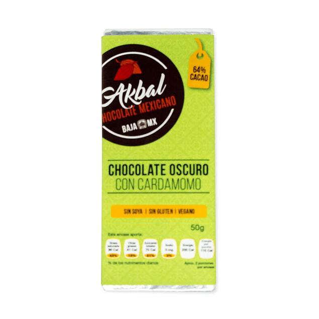 Chocolate 64% cacao con cardamomo