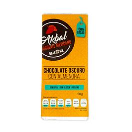 Chocolate 100% cacao con almendras
