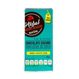 Chocolate oscuro con leche de coco