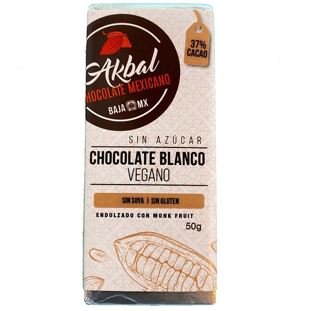 Vegan white chocolate with monk fruit